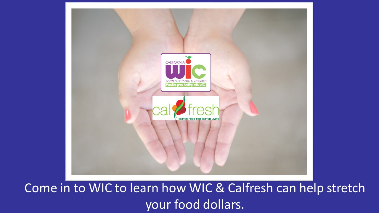 Come in to WIC