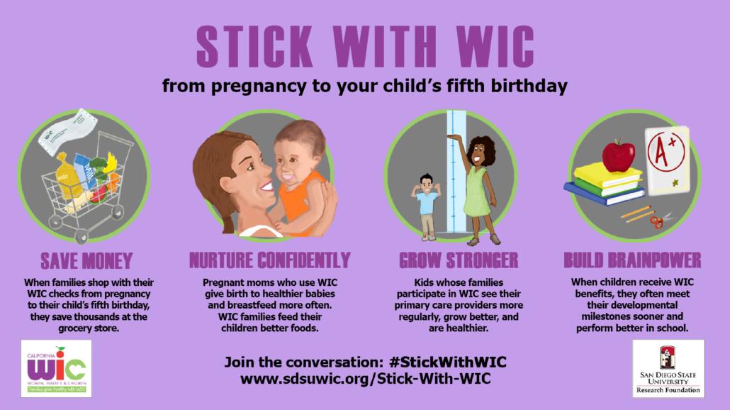 Stick With Wic Sdsu Research Foundation Wic Program